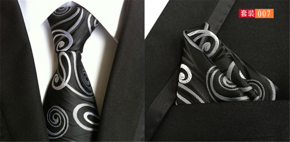 designer silk ties zx0g  CityRaider Novelty Designer Black Men Corbatas Silk Ties For Men Gravata  Necktie Slim Handkerchief With Match