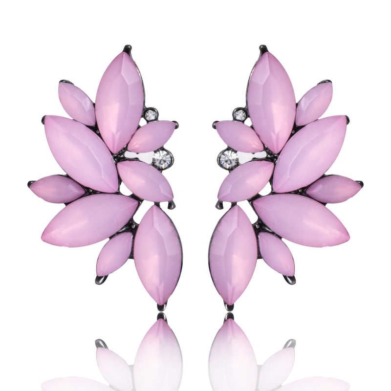 Statement Cute Flower Earring Women Fashion Jewelry Shiny Crystal Elegant drop Earrings For Girl Factory Wholesale e0160