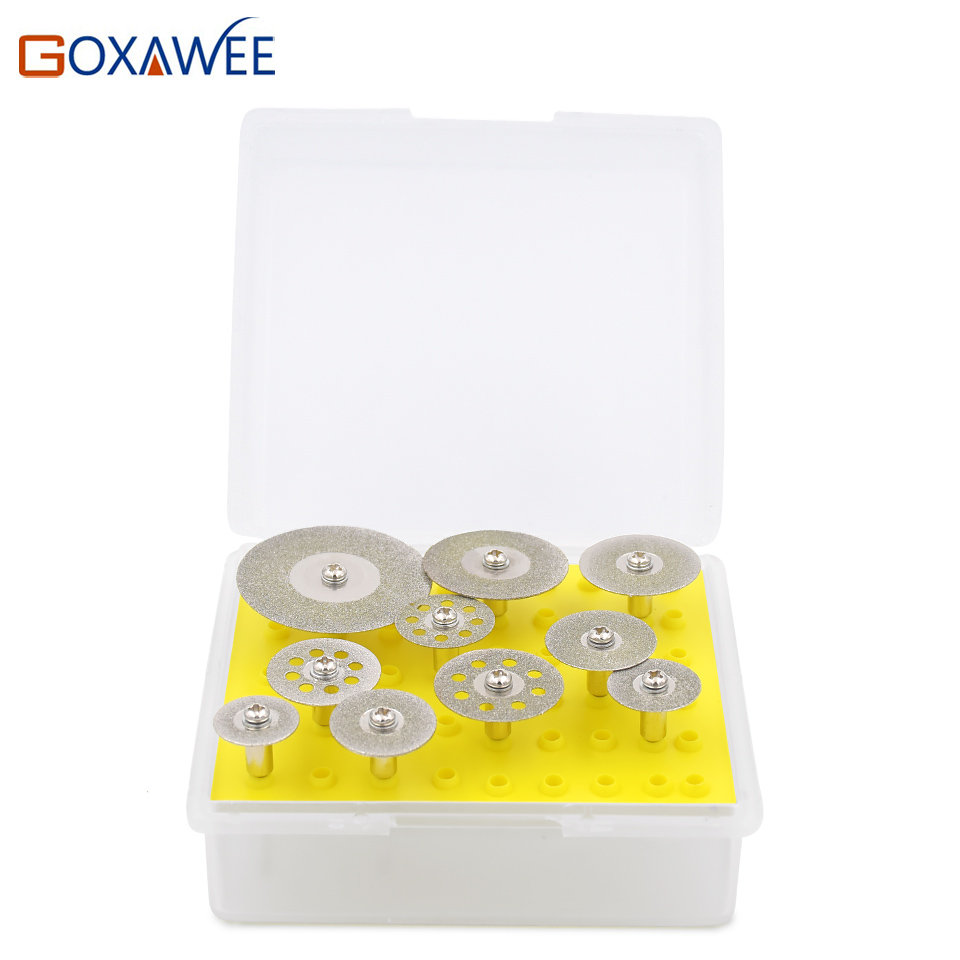 GOXAWEE Mini Diamond Saw Blade Silver Cutting Discs Wheels 1/8