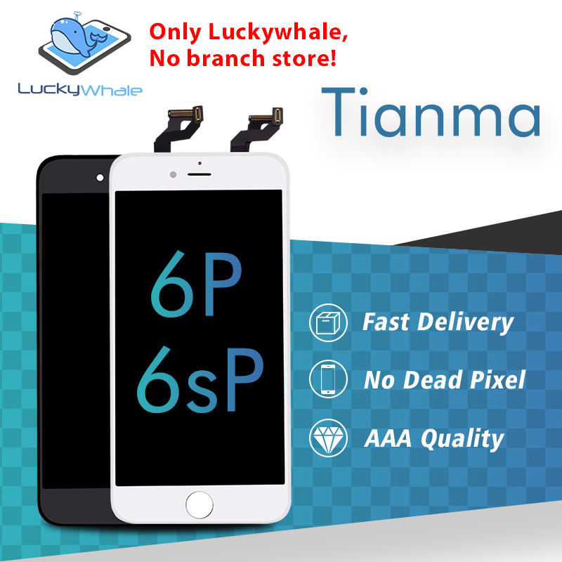 20PCS Premium AAA tianma LCD display for iphone 6 plus 6s plus lcd screen and digitizer