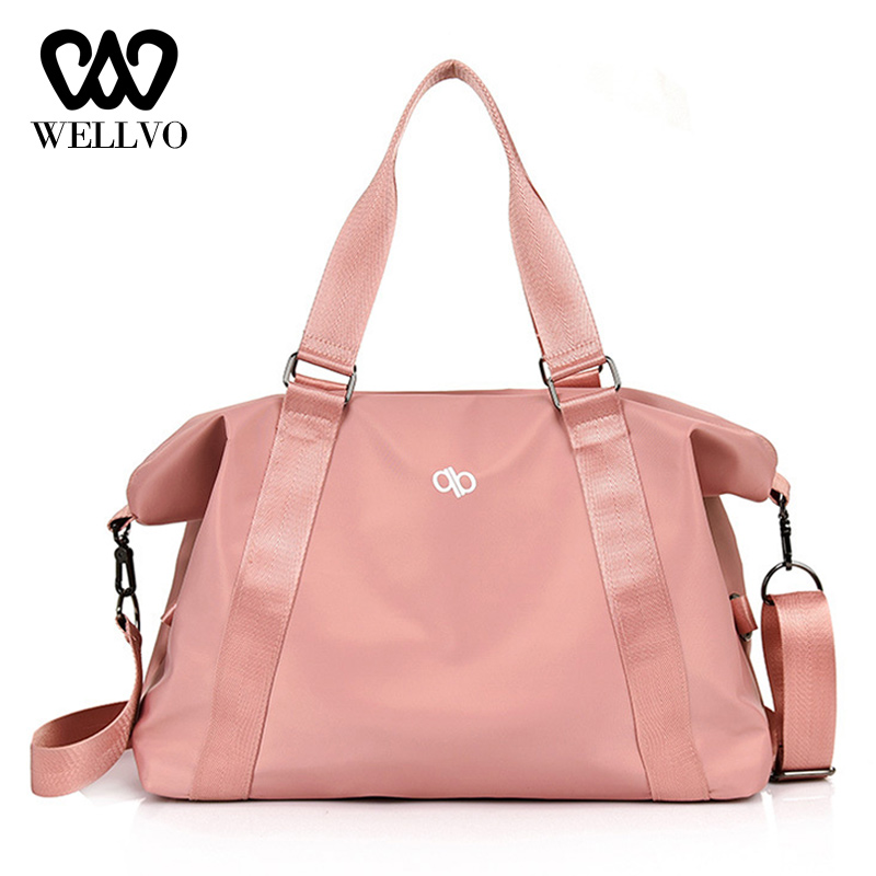 Fashion Fitness Bag Nylon Duffle Travelling Bags And Luggage For Women Weekend Bag Ladies Large Capacity Sac Handbags XA775WB