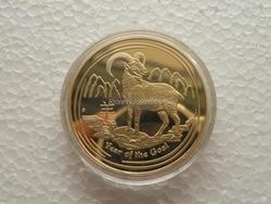 2015 jahr der Ziege 1 unze Gold überzogen Chinesisches tierzeichen gedenkmünze 1 teile/los
