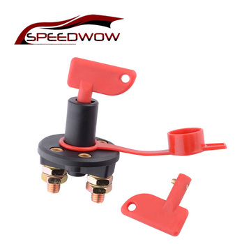 SPEEDWOW Car Battery Switch High Current Battery Disconnect Isolator Cut Off Switch For Marine Auto ATV Vehicles Interior Parts image