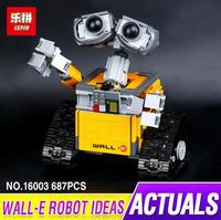 Lepin 16003 687pcs Genuine Idea Robot WALL Educational Building Set Kits Bricks Blocks Bringuedos Compatitable Toys