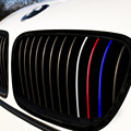 24pcs for BMW M3 M5 E36 E46 E60 E90 E92  Front Grille Grill Vinyl Strip Sticker DecalReflective front grill stickers car-styling