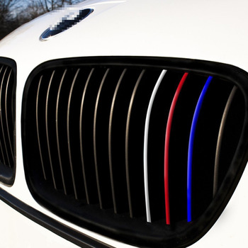 24pcs for BMW M3 M5 E36 E46 E60 E90 E92 Front Grille Grill Vinyl Strip Sticker DecalReflective front grill stickers car-styling image