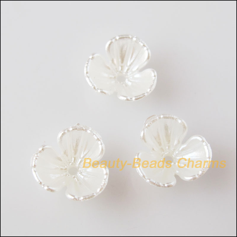 100 шт. белый пластик акрил цветок разделитель для бусин в виде звездочки Конец Бусины шапки талисманы 10,5 мм