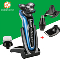 Chu Cheng 4D Flutuante Recarregável Lavável Barbeador Elétrico, Máquinas seguro Profissional Máquina de Barbear, Homens Barbeador Elétrico à prova d' água