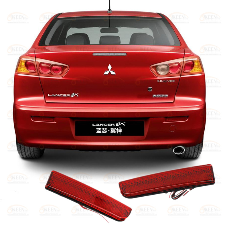 OKEEN Lens Rear Bumper Reflector Lights <font><b>LED</b></font> Tail Light for <font><b>Mitsubishi</b></font> <font><b>Lancer</b></font> Evolution EVO <font><b>X</b></font>/Outlander Sport/RVR/ASX Accessories image