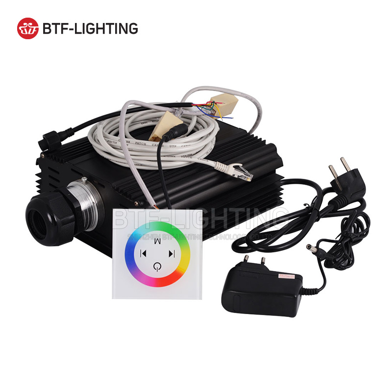 Wholesale RGB 45W LED Fiber Optic Enginewith wall switch touch controller for all kinds fiber optics wholesale rgb 45w led fiber optic engine wifi voice control via app for all kinds fiber optics
