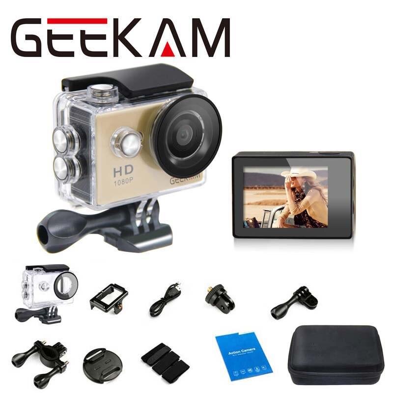 Sports DV Mini Cameras 1080P 15FPS 720 HD 1 Case bag for Gopro Waterproof 30M Sport