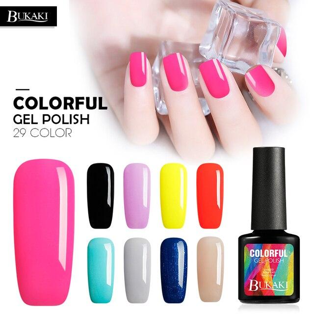BUKAKI 29 Color French Colors Nail Polish Nail Art Acrylic Gel ...