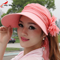 Summer Beach Hat Female Anti-Uv Sun Hat Women Sunscreen Flowers Women's Vintage Hats