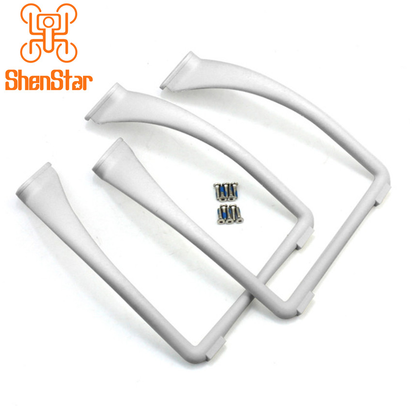 Universal Heighten Broaden Widen Tall Landing Gear Skid Kit for DJI Phantom 1 / 2 / 3 FPV Drone Black / White