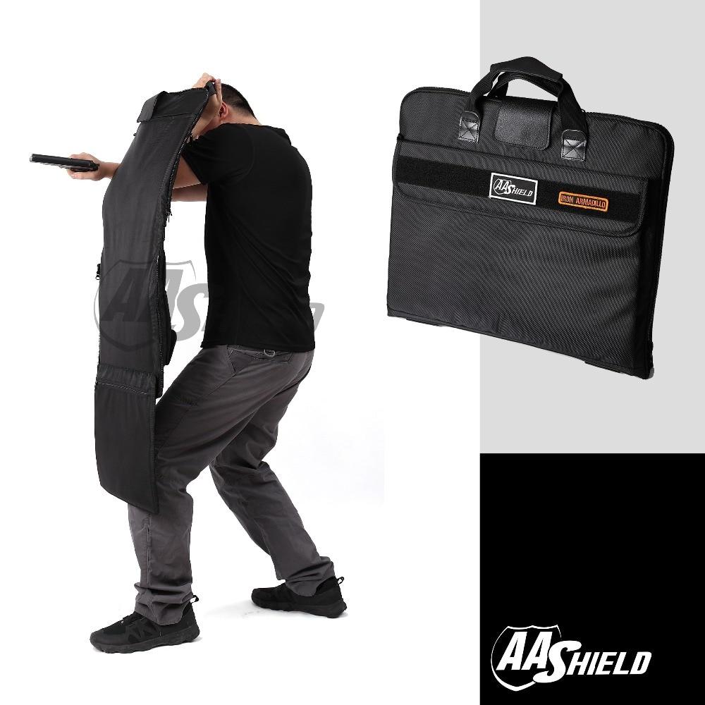 AA Shield Bulletproof Briefcase Ballistic Body Armor Safe Bag NIJ Level IIIA Plate Insert Portfolio Tactical
