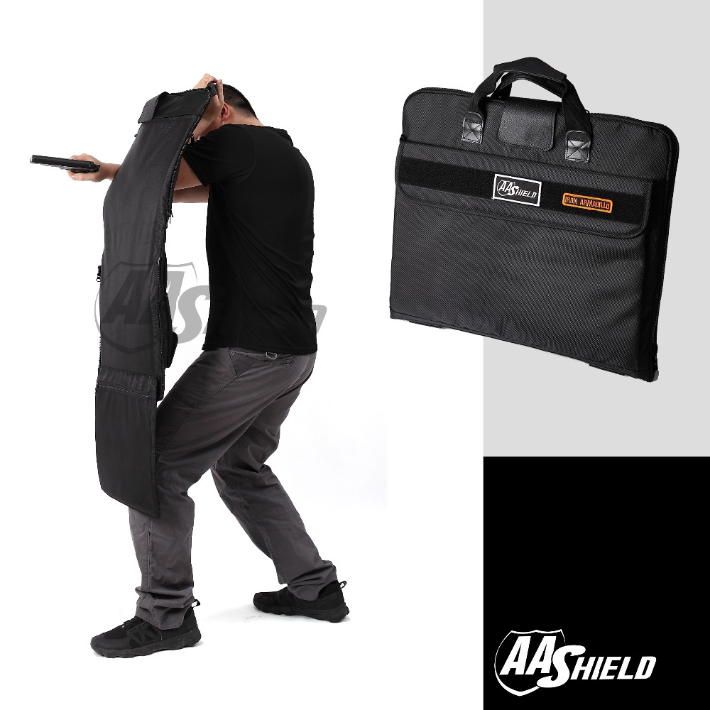 AA Shield Bulletproof Briefcase Ballistic Body Armor Safe Bag NIJ Level IIIA Plate Insert Portfolio Tactical Concealed Briefcase