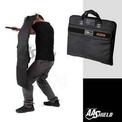 AA escudo a prueba de balas maletín balísticos armadura de cuerpo seguro bolsa NIJ nivel IIIA placa insertar cartera táctico oculta maletín