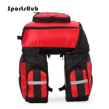 SPORTSHUB Detachable Bicycle Bags 70L MTB Mountain Bike Rack Bag 3 in 1 Multifunction Bike Pannier Trunk Bag C0044