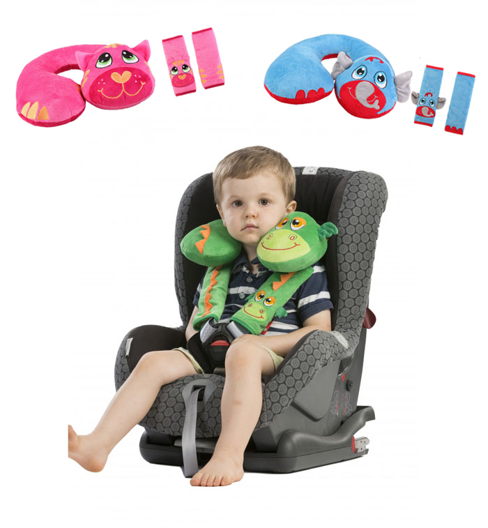 3 pc baby kid toddler head neck suppot headrest travel car seat pillow stroller cushion belt cover0 2 year old