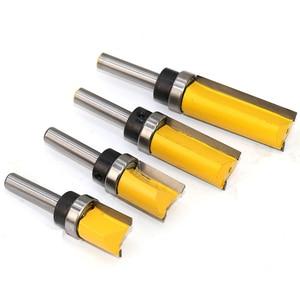 Image 3 - 8 мм хвостовик шаблон отделка шарнир отрезание фрезы прямой конец мельница триммер для очистки промывки тенон фрезы для деревообработки
