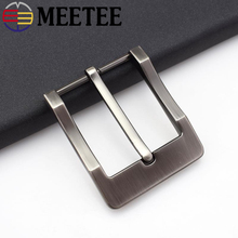 Meetee 5pcs 40mm Width Alloy Metal Belt Buckles Cowboy Pin Buckle for Men Jeans Accessories DIY Leather Craft Hardware KY234