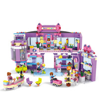 Models Building Toy 14511 810pcs Girl Series Shopping Mall Building Blocks Compatible With Lego Friends Toys