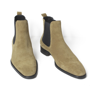 Image 3 - VIKEDUO bottines Chelsea pour hommes, classiques, faites à la main, à bout carré, chaussures pour bureau, mariage, automne, 2020