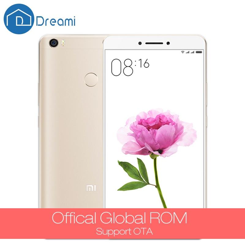 Dreami Original Xiaomi Mi Max Pro Cellphone 6.44 inch Mimax 3GB RAM 64GB ROM Snapdragon 652 Octa Core 4850mAh PDAF Fingerprint