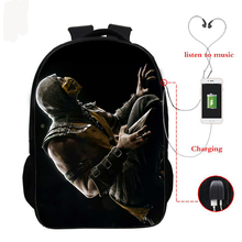 16 Inch Travel School Bag Girls Boys Backpacks Scorpion