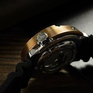 Image 3 - サンマーティン SBBN015 男性腕時計自動ファッションブロンズダイビング腕時計ブロンズ鎧 300 メートル防水 NH36 MOVT 腕時計
