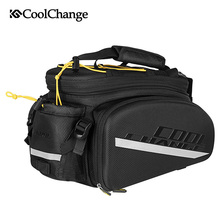 Coolchange Multifunctionele Fiets Rear Seat Trunk Bag Bike Bagage Pakket Bagagedrager Fietstas Eva Shell Met Regenhoes