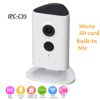 DH 3mp Wifi IP Camera IPC C35 HD 1080p Security Camera Support SD card up to 128GB built in Mic English version