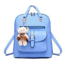 Korean Style Rivet Multi-pocket Women Backpack PU Leather Double Zipper Girls Daily Backpack Large Capacity School Backpacks