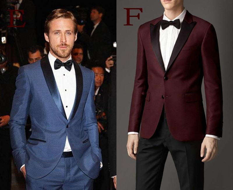 Custom Made New Arrival Groom Tuxedos different Styles Men's Suit ...