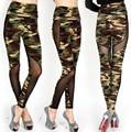 S-XL de Alta Qualidade Costura Leggings Gaze das Mulheres Sexy Plus Size Camuflagem Calças Stretch de Cintura Alta Calças Leggings Exército