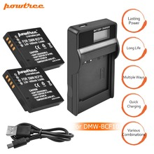 2Packs DMW-BCF10 Li-ion Battery 3.6V 1400mAh+1Port Battery Charger with LED For Panasonic DMW-BCF10E DMW BCF10 BCF10 DMC-FS1 L20 dste dmw bcf10gk bcf10e bcf10 s009e battery charger for dmc ft1 ft3 ts3 fs4 fs6 fs7 camera