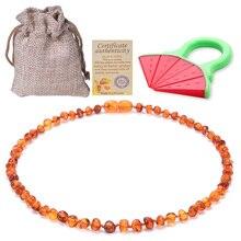 Baltic Ambers ожерелье-прорезыватель/браслет для малышей/взрослых противовоспалительный, капельница высокого качества сертифицированные полировки Ambers
