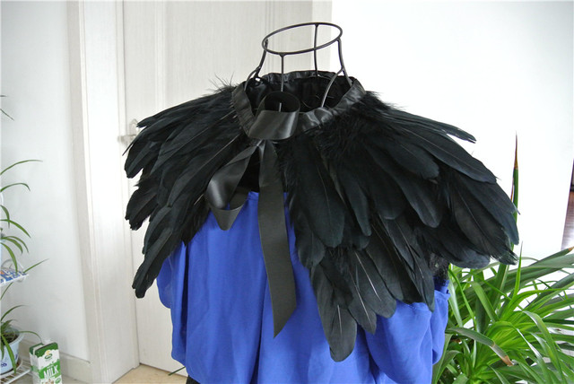 Schwarze feder Kragen Achselzucken Cape feder schal feather schulter ...
