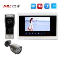 Free Shipping 1 0MP 720P AHD Motion Detection 7 Video Intercom Door Phone System Record Monitor