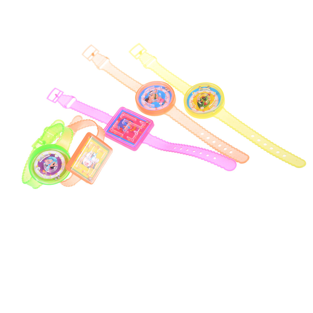 5pcs/lot Cartoon Maze Game Watch Wristbands Children Boy Girl Bracelet Bangle Puzzle Toys Birthday Party Favor Gift Hallowmas
