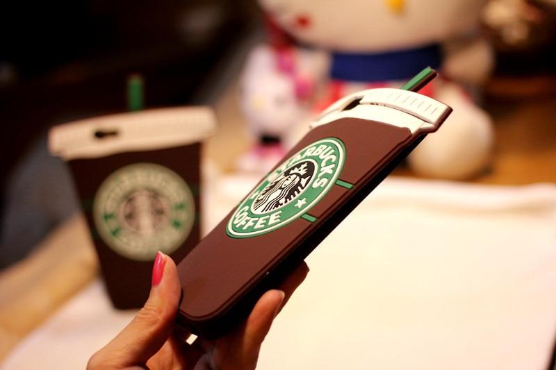 חם 3D גלידה סטארבק כוס קפה מקרה עבור iPhone 4 4S 5 5S SE 6 6 7 בתוספת Galaxy S3 S4 S5 S6 S7 edge הערה 3 4 5 A5 7 8 j-7 J5