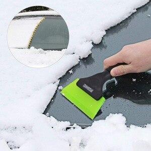 Image 2 - Foshio車アイススクレーパーゴム雪シャベルカークリーニングツールワッシャー窓ガラス水ワイパービニール包装着色スキージ
