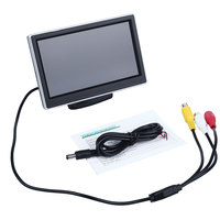 5 Inch LCD Screen Display Auto Car Vehicles DVD VCR Rearview Cameras Monitor