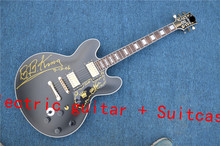 Free Shipping 2016, new guitar, electric guitar + suitcase custom, ES 335 shop oem electric guitar in China