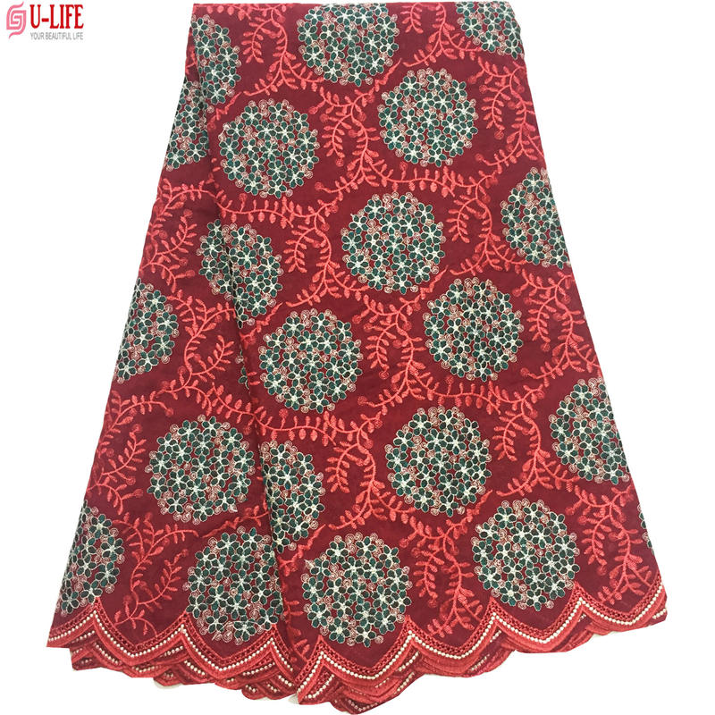Dubai Swiss Voile Cotton Lace Fabric 2018 Simple African Swiss voile lace in switzerland High Quality Swiss Dry Laces CL 010 in Lace from Home Garden