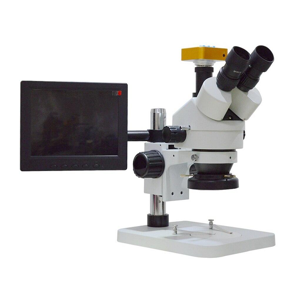 7X-45X Microscope de Dissection biologique stéréo trinoculaire de carte PCB d'appareil-photo de CCD d'oculaire numérique pour la réparation de téléphone portable