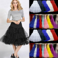 2017 New Arrival Boneless Bustle Slip A-Line Petticoat Short Underskirt Knee Length Colorful Bridal Petticoat Cheap