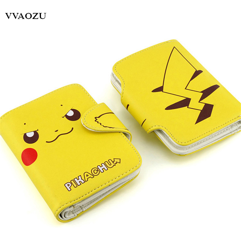 Pocket Monsters 3D Pikachu Short Cosplay Wallet Pokemon Yellow Cartoon Students Gift Money Bag with Card Holders Free Shipping anime pu short yellow purse button wallet printed with pikachu of pikachu