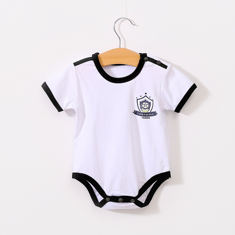 d49b84bf9 Newborn Baby Boy Girl France Football Jersey 2018 Infant Girl Summer Short  Cotto Romper Toddler Boy World Spain Clothes-in Bodysuits from Mother    Kids on ...