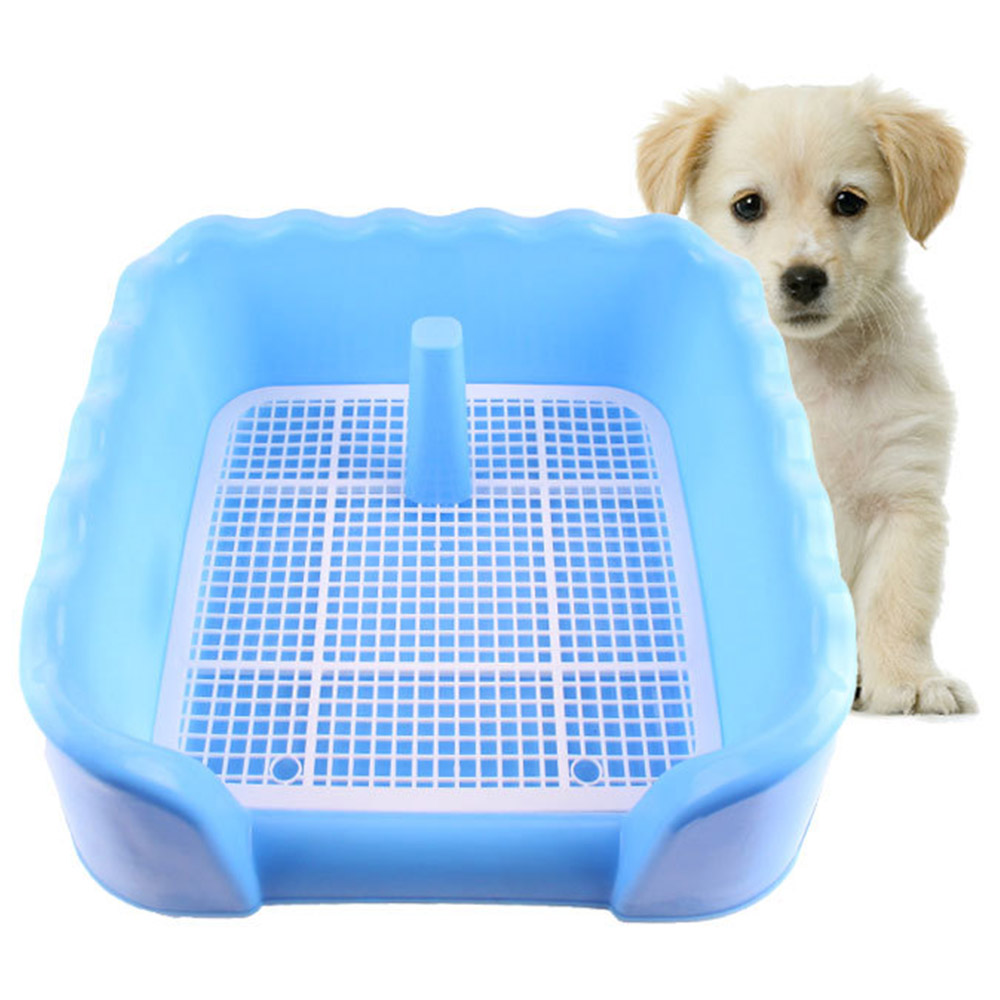 New Portable Lovely Pet Dog Cat Toilet Tray Puppy Training Pad Holder Floor Protection Mesh Urinal Bowl Pee Training Toilet Po3#